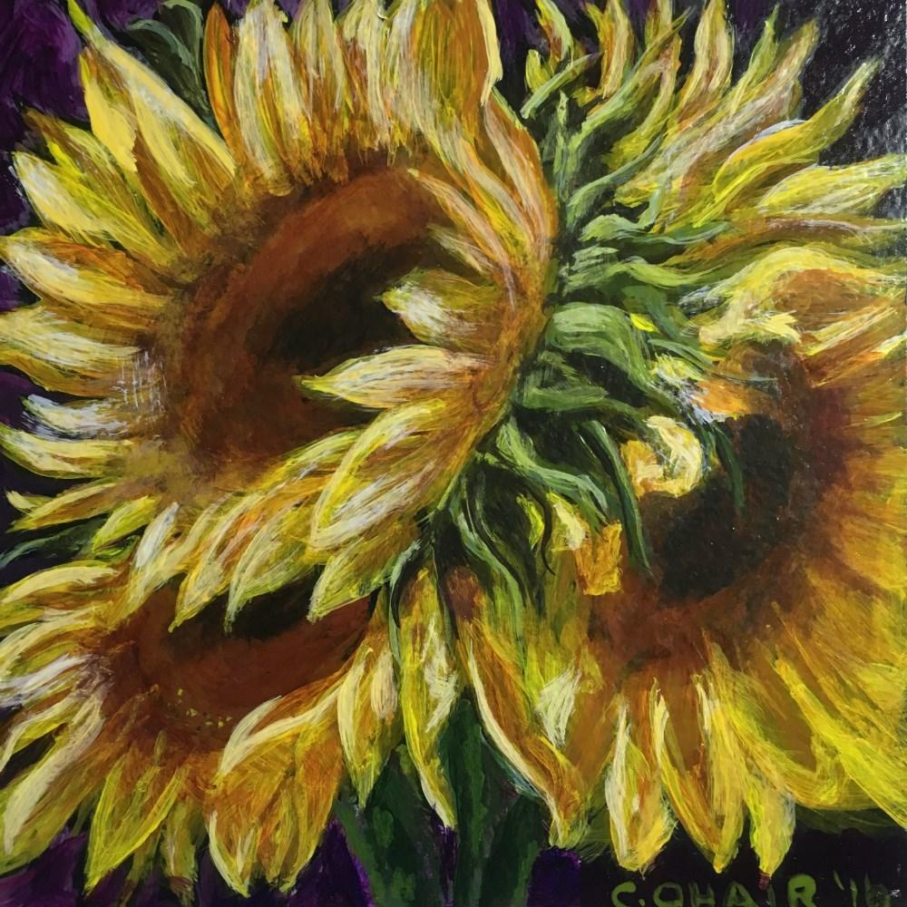 """""""Sunflower - SOLD"""" original fine art by Colleen OHair"""