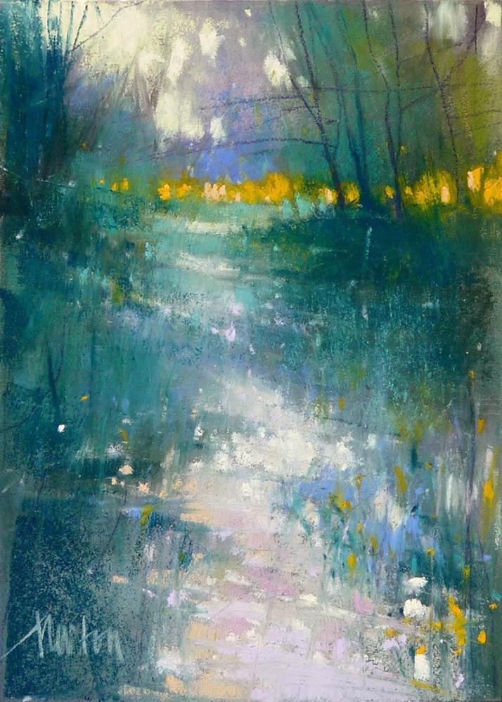 """Study #3 for Dappled Path"" original fine art by Barbara Benedetti Newton"