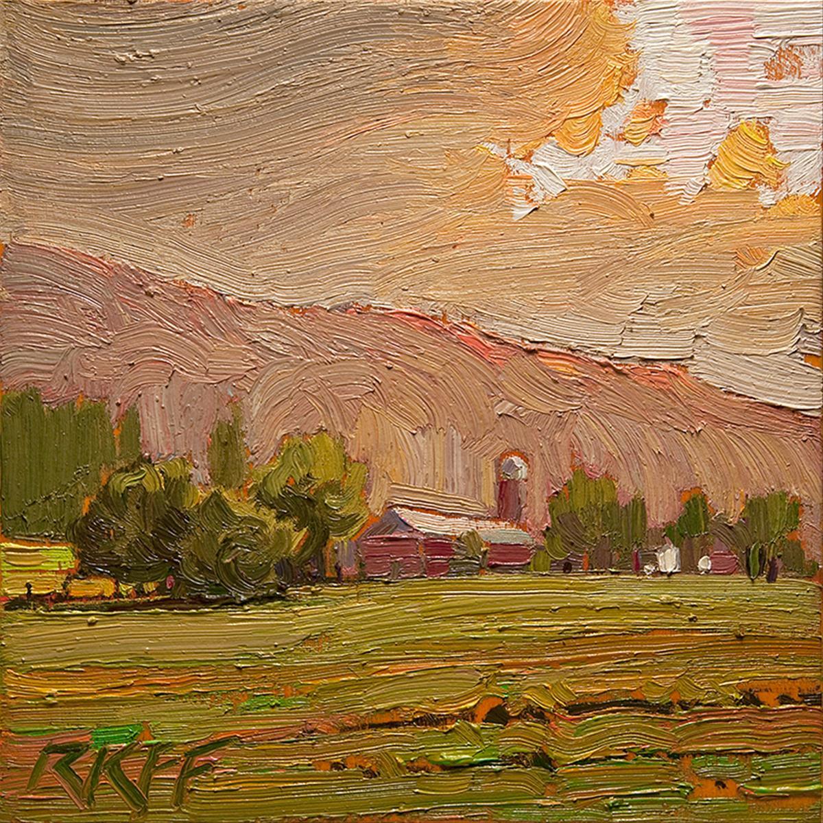 """""""Cloud Break: 6x6 oil on panel"""" original fine art by Ken Faulks"""