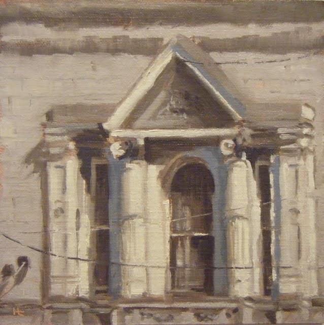 """""""WINDOW STUDY, UNION ROAD"""" original fine art by Helen Cooper"""