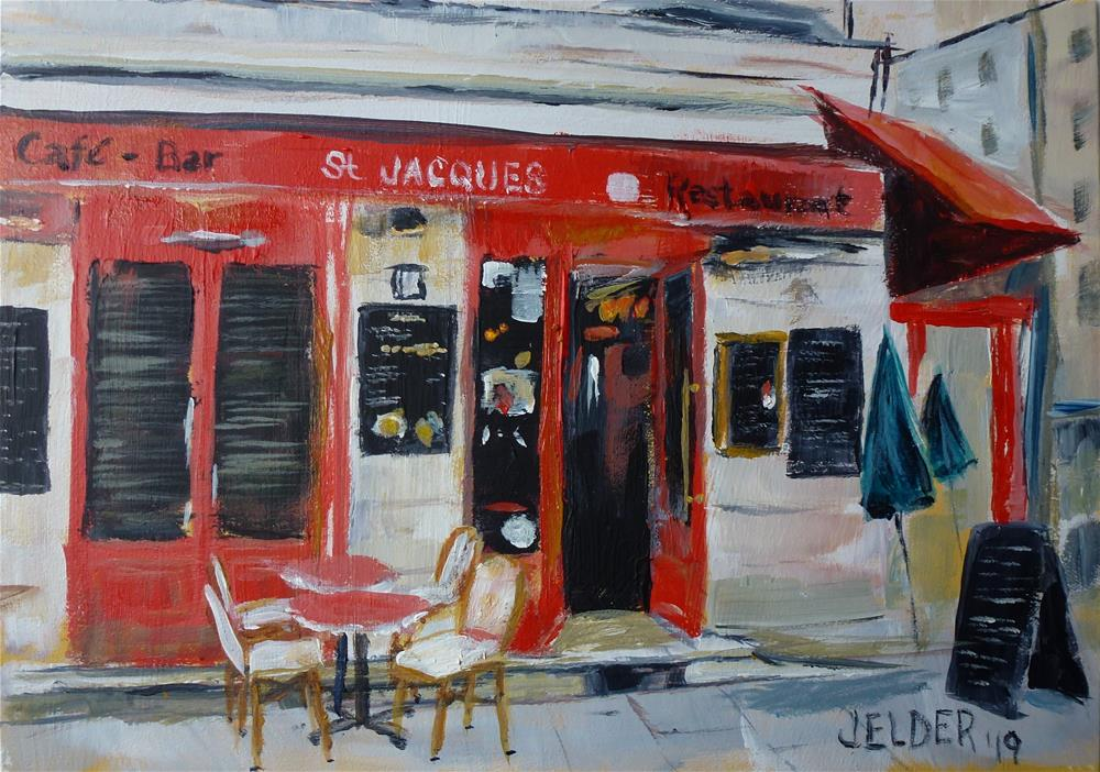 """Paris No. 119"" original fine art by Judith Elder"
