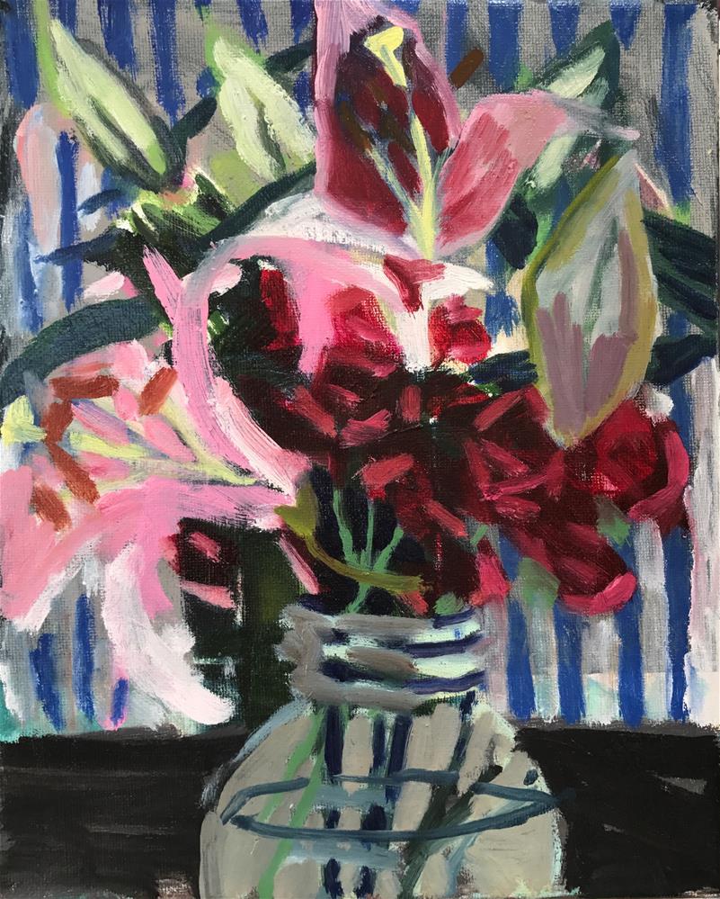 """Carnation, Lily Lily, No Rose"" original fine art by Pamela Hoffmeister"