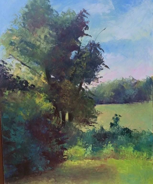 """Shaded Fig Tree"" original fine art by Carol Roark"