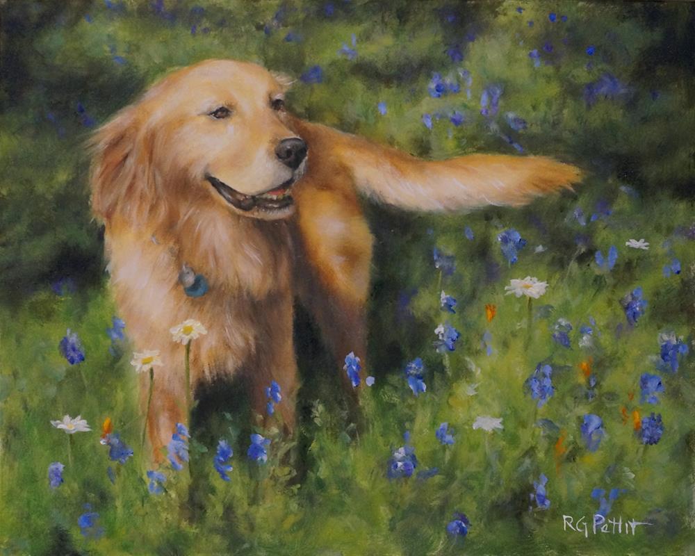"""""""Texas Beauty"""" original fine art by Rhea  Groepper Pettit"""