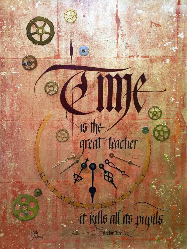 """Time"" original fine art by Patti Adams"