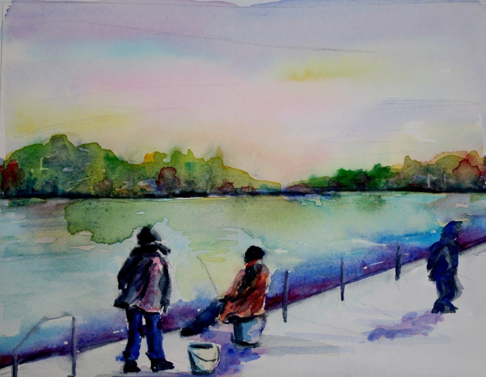 """Gone Fishing"" original fine art by Maggie Flatley"
