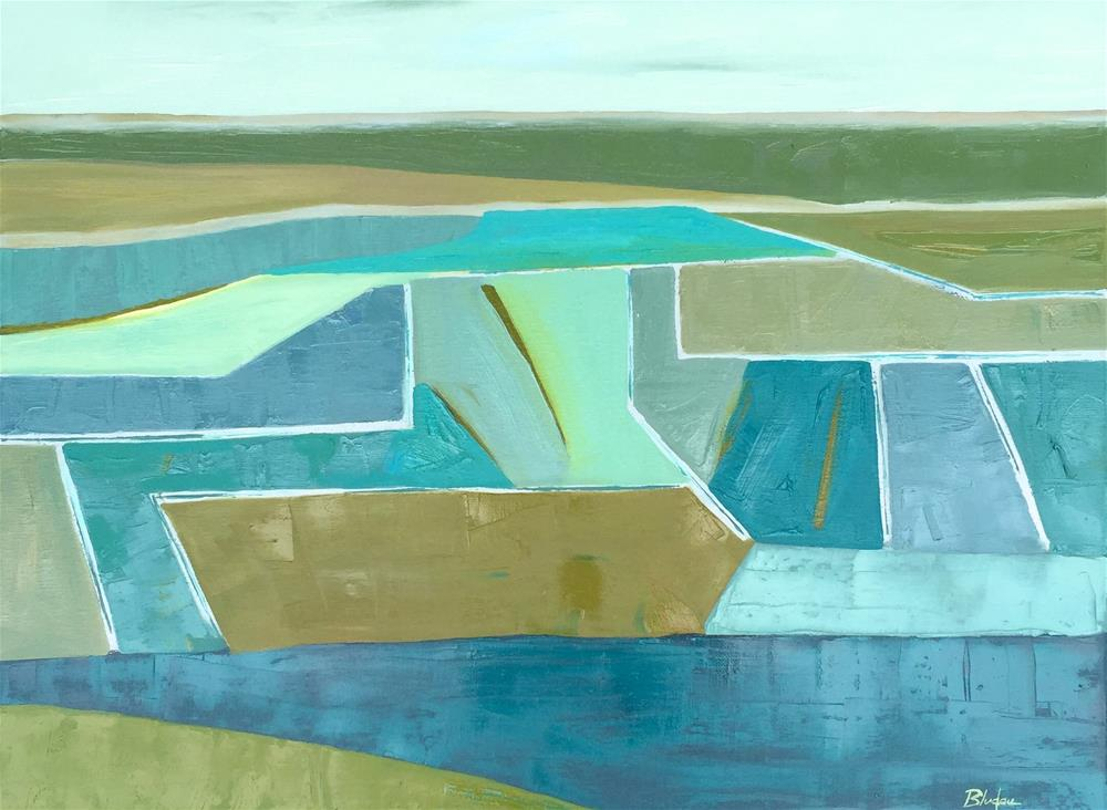 """Geometry Of Color"" original fine art by Janet Bludau"