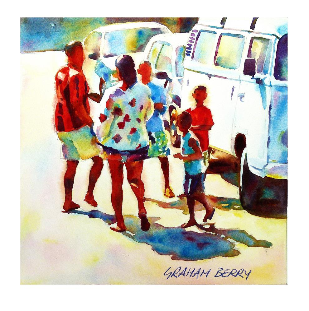 """""""Family day out."""" original fine art by Graham Berry"""