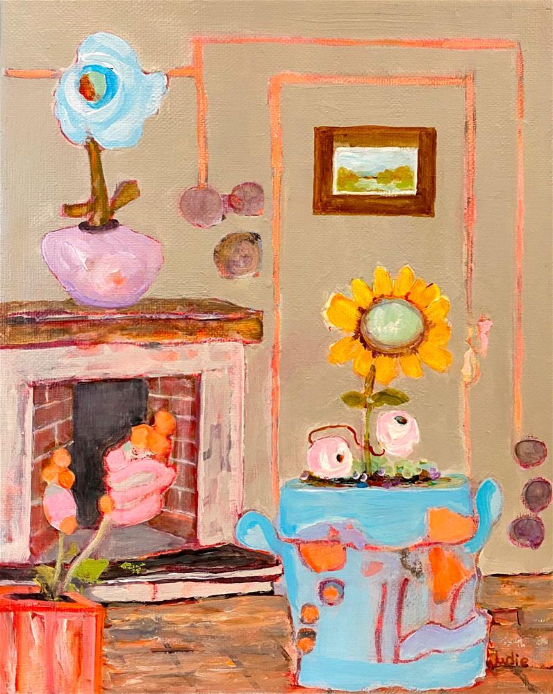 """IT'S A WONDERFUL LIFE"" original fine art by Judie Mulkey"
