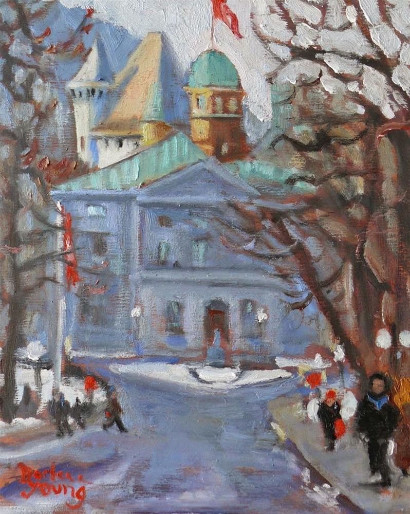"""783 Montreal Winter Scene, McGill University"" original fine art by Darlene Young"