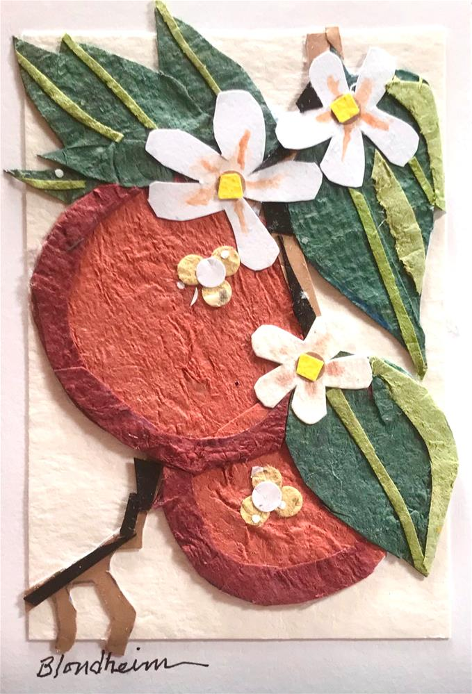 """""""Orange Blossoms"""" original fine art by Linda Blondheim"""