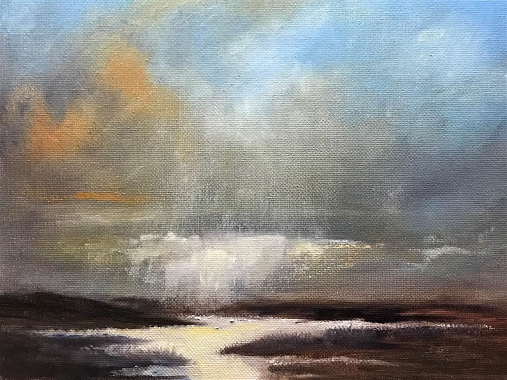 """rain clouds over the marsh"" original fine art by Betty Argiros"