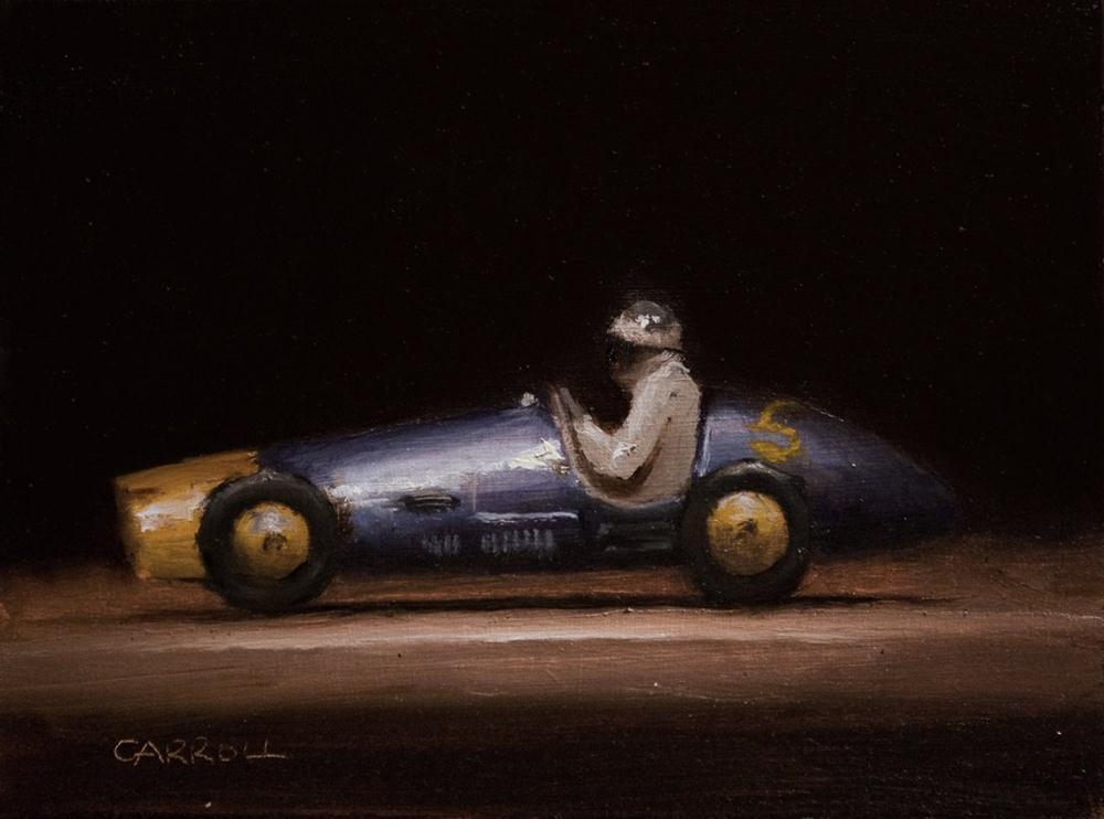 """""""Ferrari Toy Car - study"""" original fine art by Neil Carroll"""
