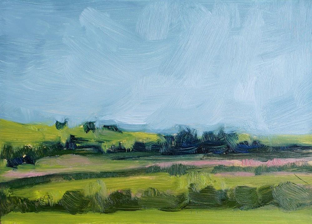 """""""Lush Plains"""" original fine art by Lauren Dusing"""