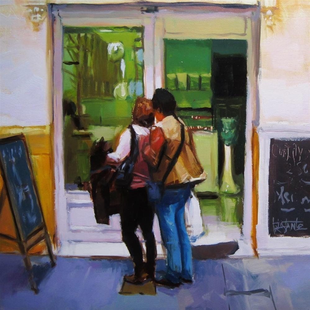 """Bakery shop"" original fine art by Víctor Tristante"