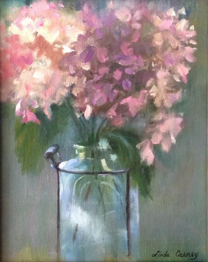 """Heavenly Hydrangeas"" original fine art by Linda Carney"
