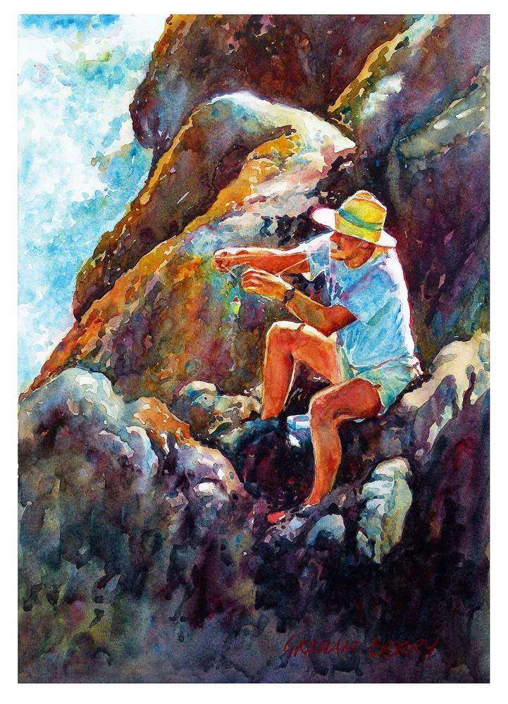 """Tying the float"" original fine art by Graham Berry"