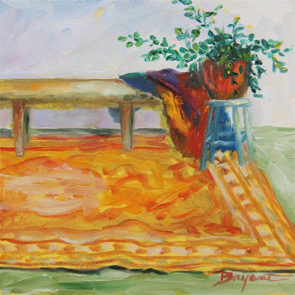 """Waiting Room"" original fine art by Debra Bryant"