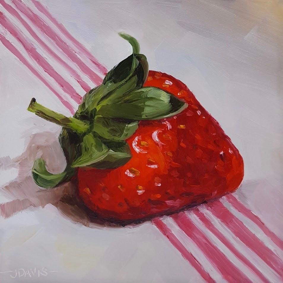 """Strawberry Love II"" original fine art by Jacqueline Davis"