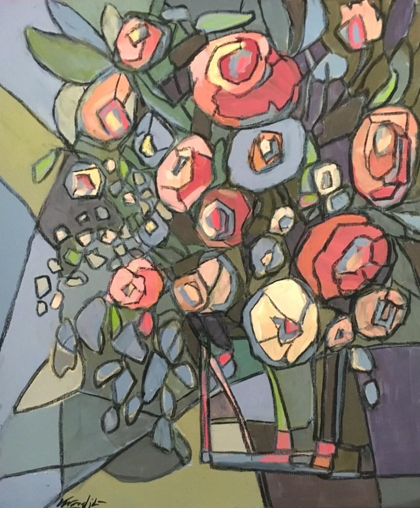 """blooms 6"" original fine art by Vicki Wood"