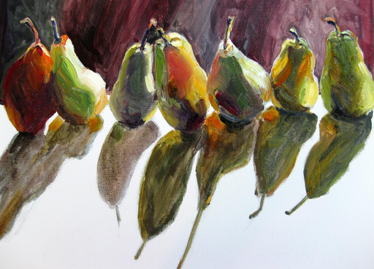 """Autumn Pears"" original fine art by Julia Lu"