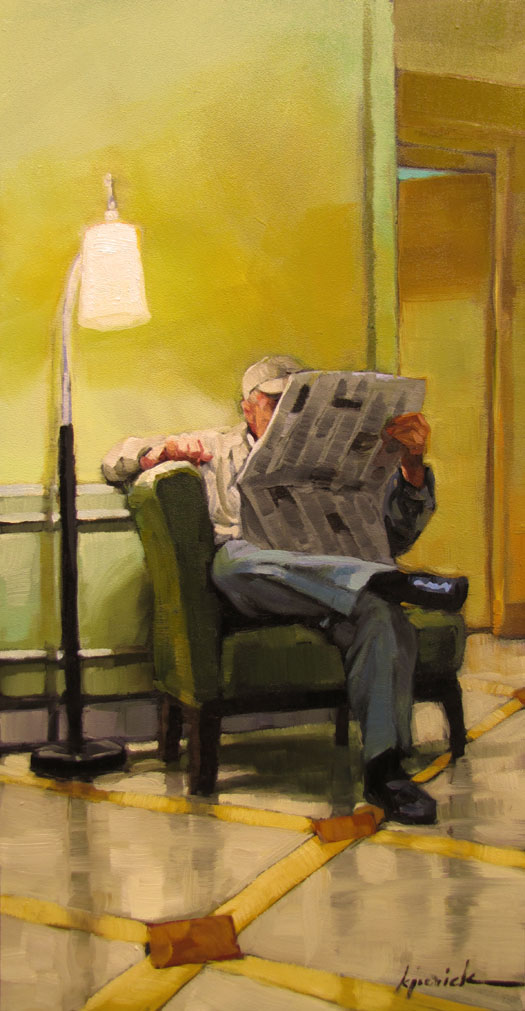 """Lamp Post"" original fine art by Karin Jurick"