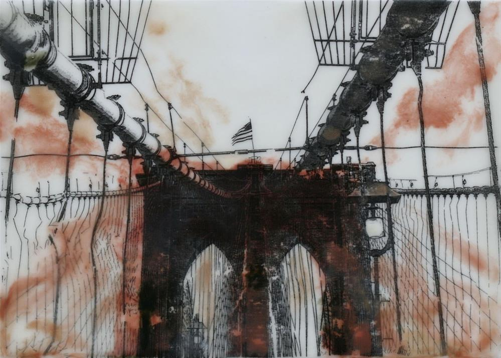 """Brooklyn Bridge"" original fine art by Heather Douglas"