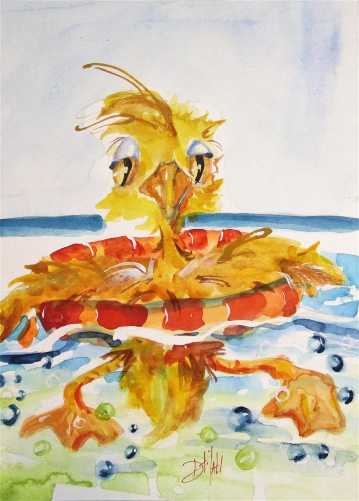 """Beach Duck"" original fine art by Delilah Smith"