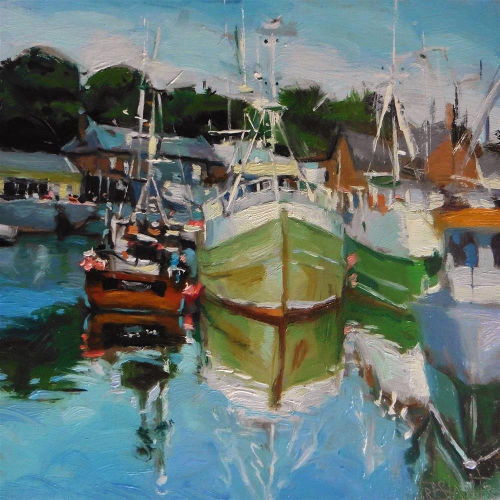 """Harbour"" original fine art by Víctor Tristante"