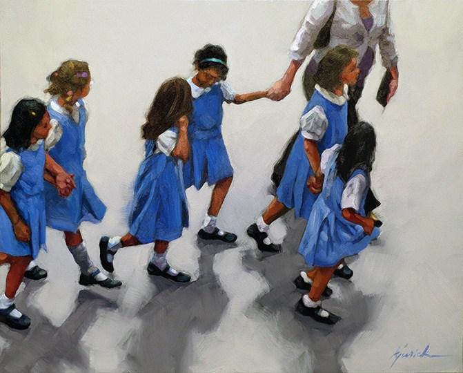 """Blue Birds"" original fine art by Karin Jurick"