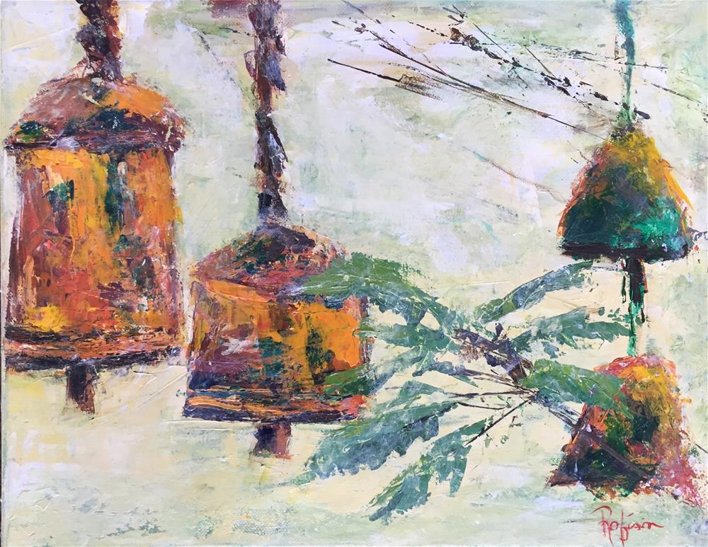 """Backyard Bells"" original fine art by Renee Robison"