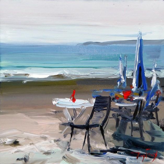 """At the beach"" original fine art by Jurij Frey"