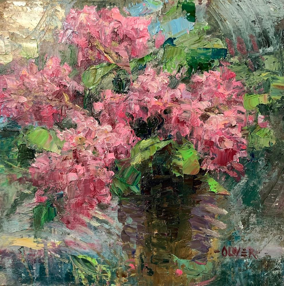"""Crape Myrtle Bouquet"" original fine art by Julie Ford Oliver"