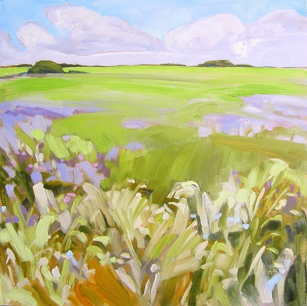"""Thistles And Wild Spaces"" original fine art by Nicki Ault"