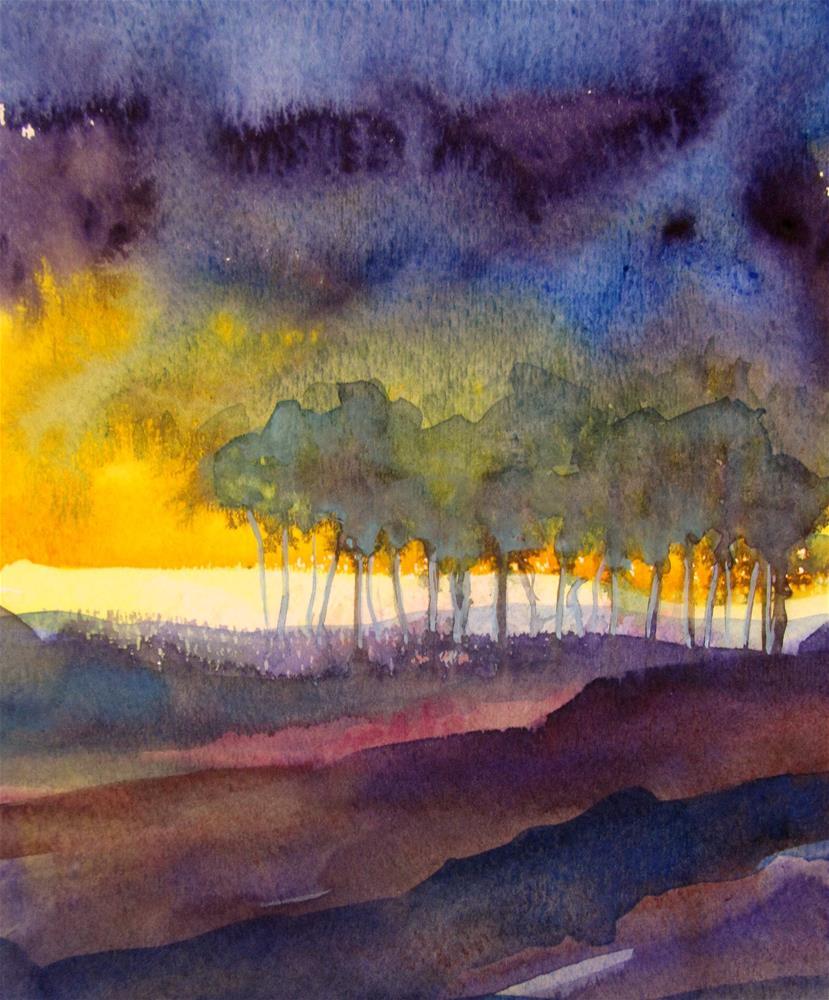 """Nightfall"" original fine art by Patricia MacDonald"