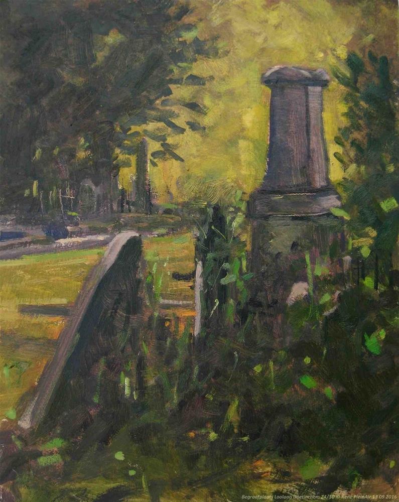 """""""Begraafplaats Loolaan Doetinchem, The Netherlands."""" original fine art by René PleinAir"""