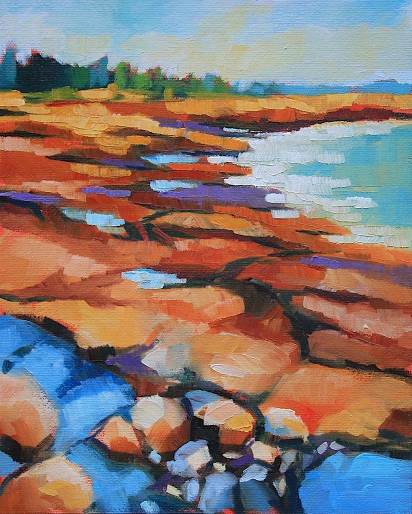 """Acadia Coast"" original fine art by Mary Anne Cary"