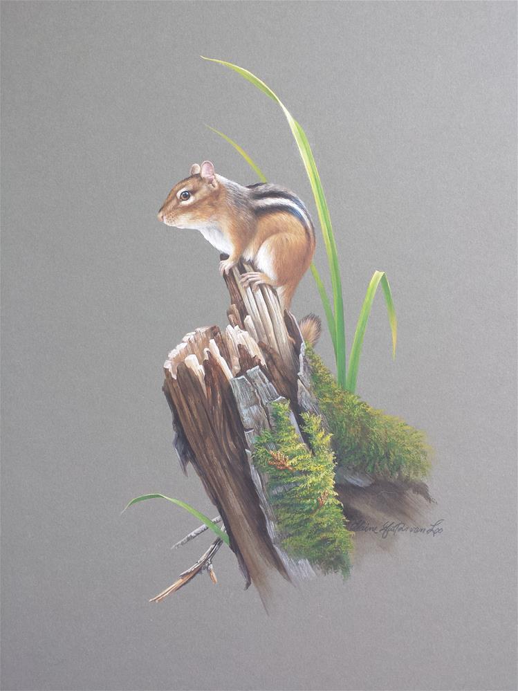 """On the Lookout "" original fine art by Elaine Guitar van Loo"