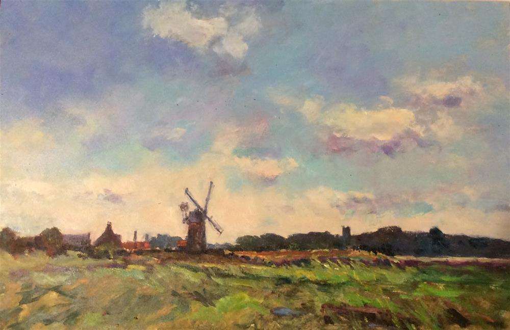 """Cley landscape"" original fine art by John Shave"