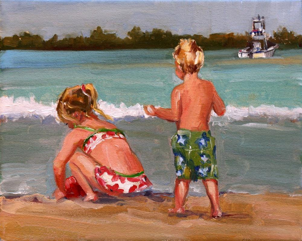 """beached"" original fine art by Carol Carmichael"