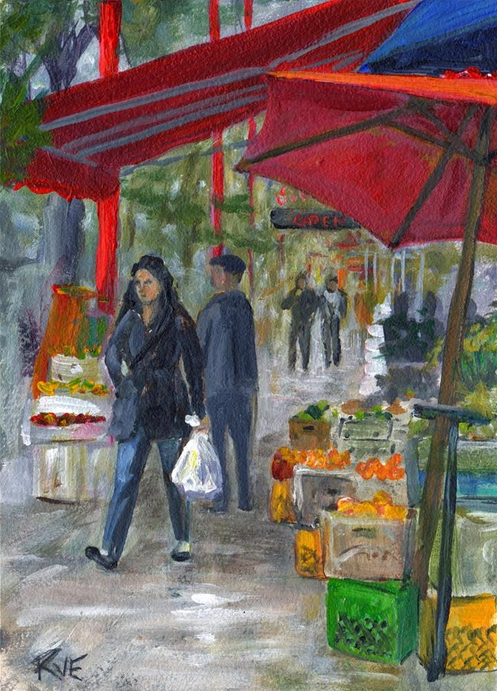 """Victoria's China town"" original fine art by Ruth Van Egmond"