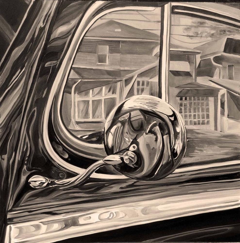 """Hudson side mirror"" original fine art by Lauren Kuhn"