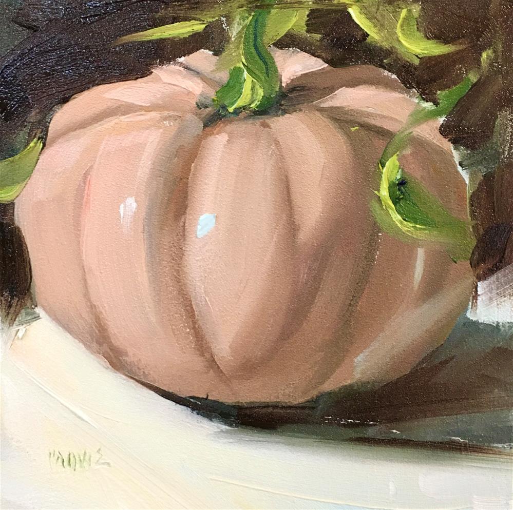 """""""Cinderella pumpkin"""" original fine art by Judy Crowe"""
