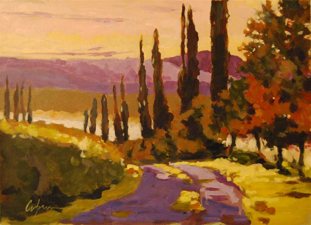 """Study for Tuscany"" original fine art by Cornelis vanSpronsen"