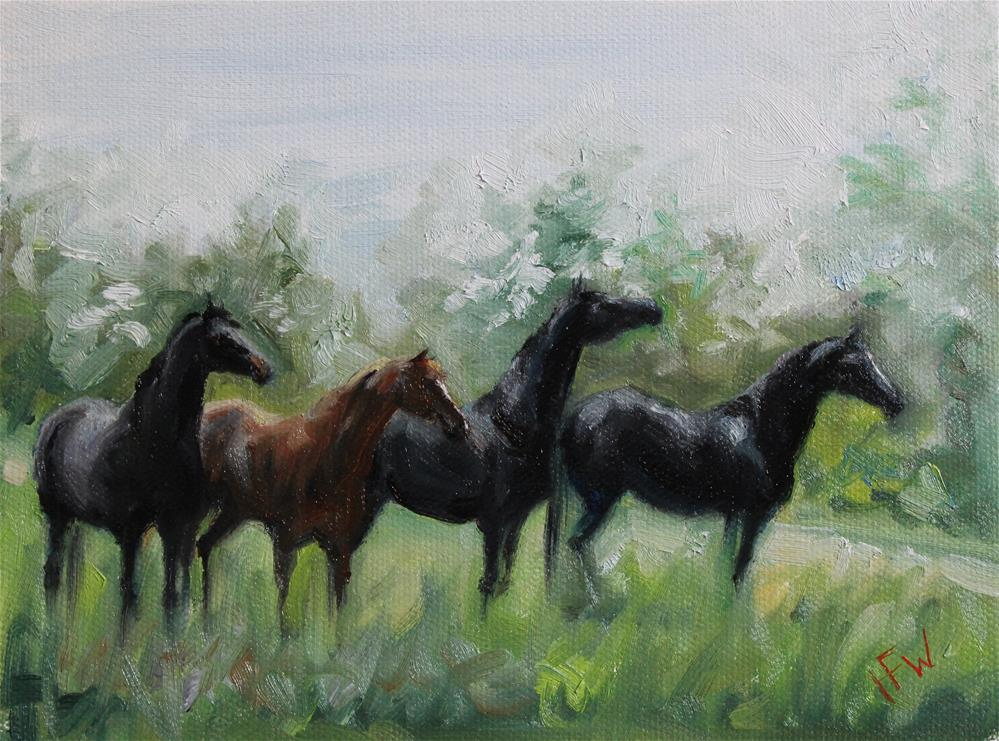 """Something in the Distance"" original fine art by H.F. Wallen"