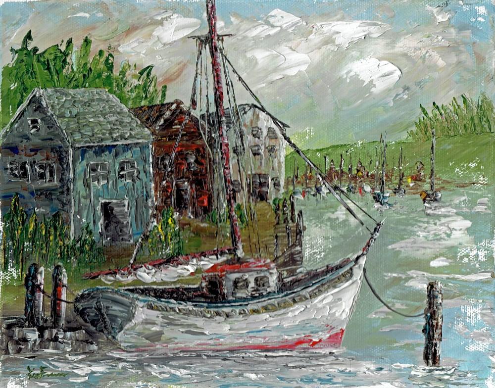 """Harbor 1"" original fine art by Ken Fraser"