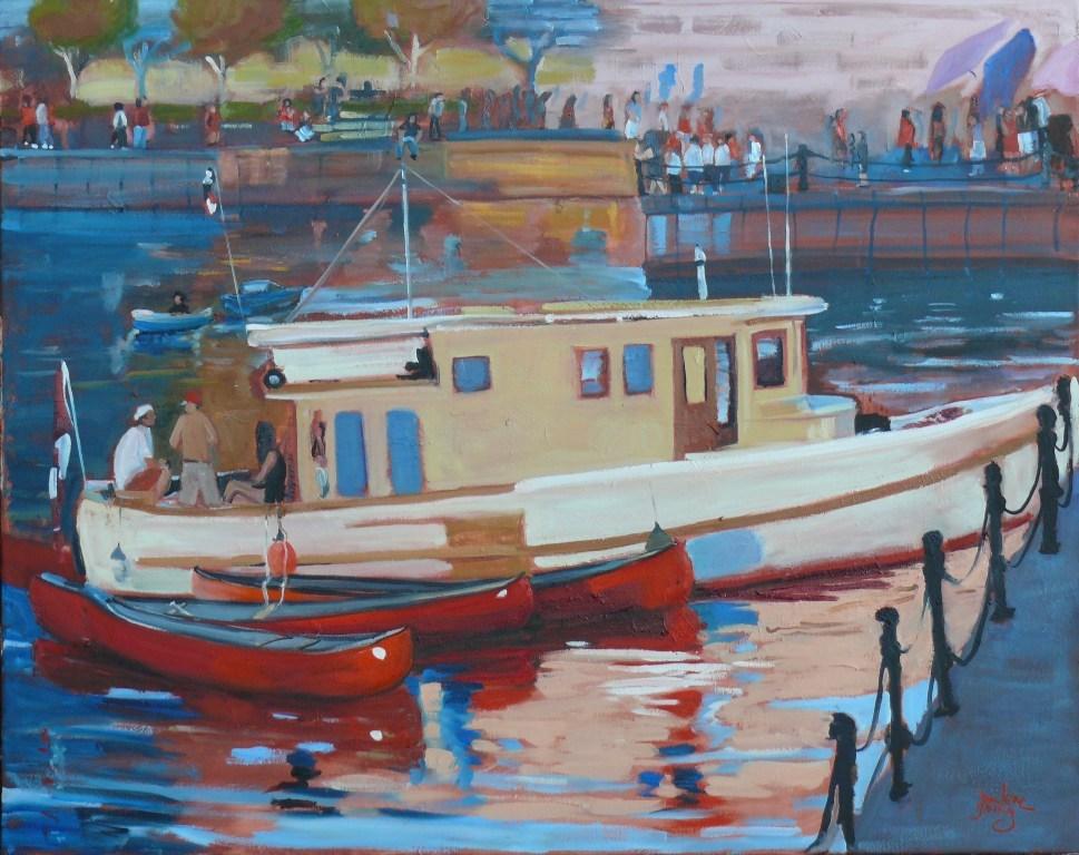 """647 Inner Harbour Scene"" original fine art by Darlene Young"