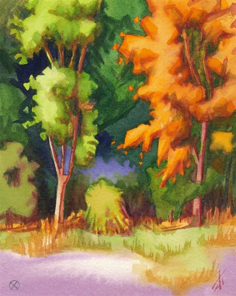 """""""September, Green & Orange"""" original fine art by Mark Allison"""