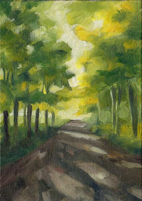 """Sunlight Through Trees"" original fine art by J M Needham"