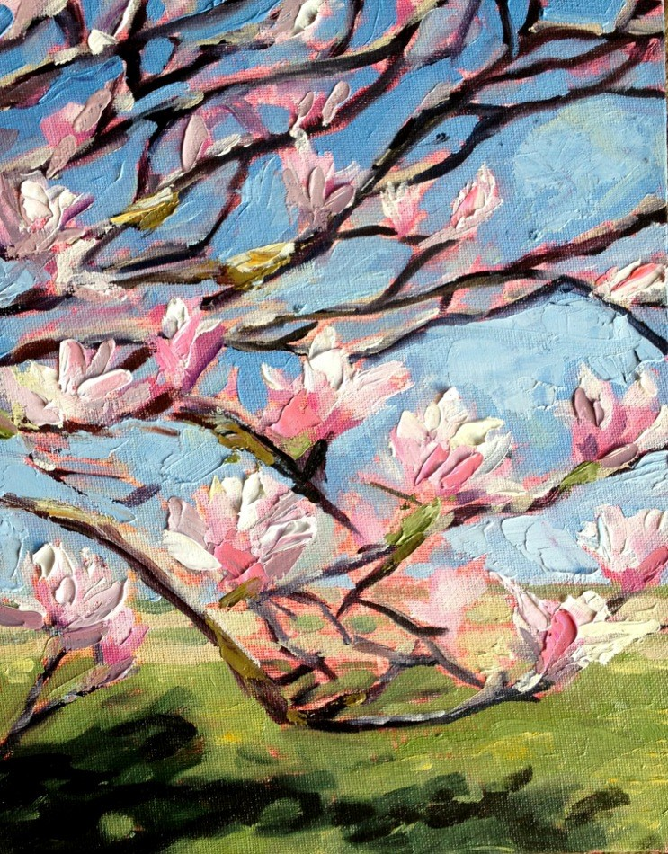 """Magnolia Tree"" original fine art by Kristen Dukat"